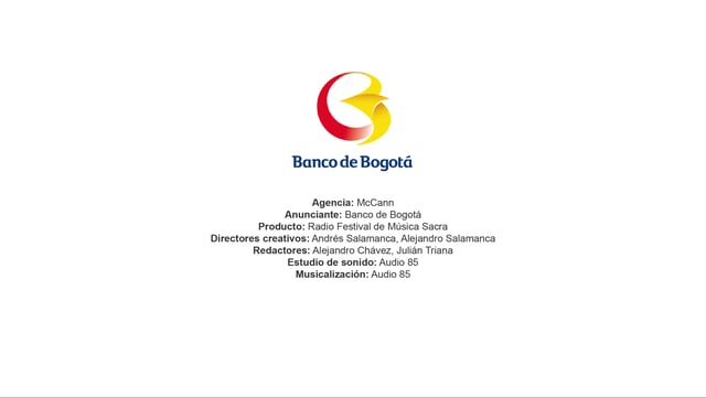 Radio Festival de Música Sacra – Banco de Bogotá
