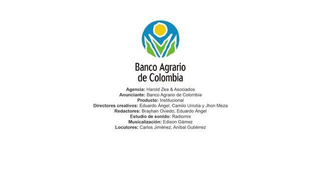 Institucional – Banco Agrario de Colombia