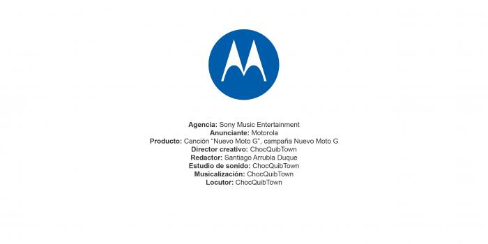 """Canción """"Nuevo Moto G"""", campaña Nuevo Moto G – Motorola"""