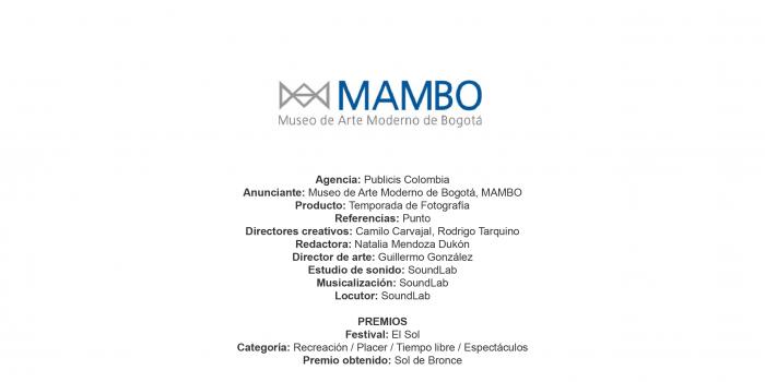 Temporada de Fotografía (Punto) – Museo de Arte Moderno de Bogotá, MAMBO