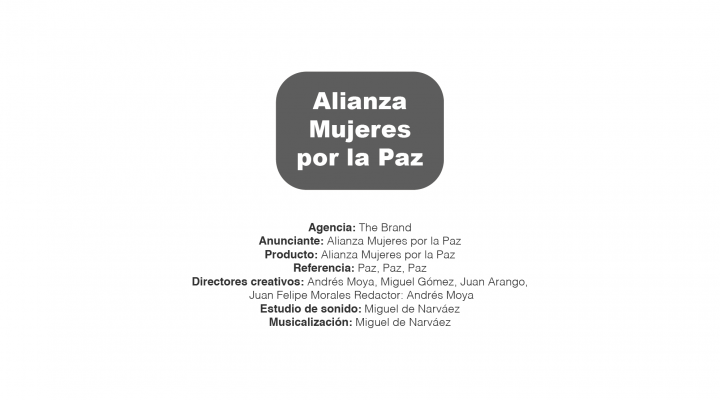Alianza Mujeres por la Paz – The Brand